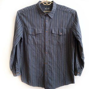 REI Shirt Top Button Front Mens Size XL Stripe
